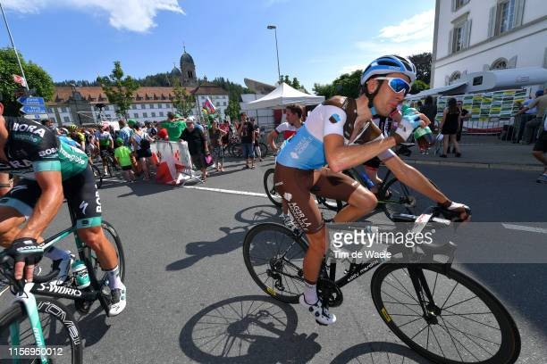Arrival / Geoffrey Bouchard of France and Team AG2R La Mondiale / Refreshment / during the 83rd Tour of Switzerland Stage 5 a 177km stage from...