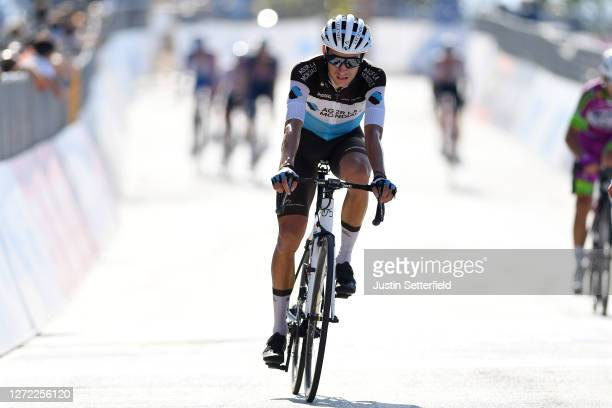 Arrival / Geoffrey Bouchard of France and Team AG2R La Mondiale / during the 55th Tirreno-Adriatico 2020, Stage 7 a 181km stage from Pieve Torina to...