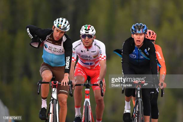 Arrival / Geoffrey Bouchard of France and Team Ag2R La Mondiale / Josip Rumac of Croatia and Team Androni Giocattoli - Sidermec / Dylan Sunderland of...