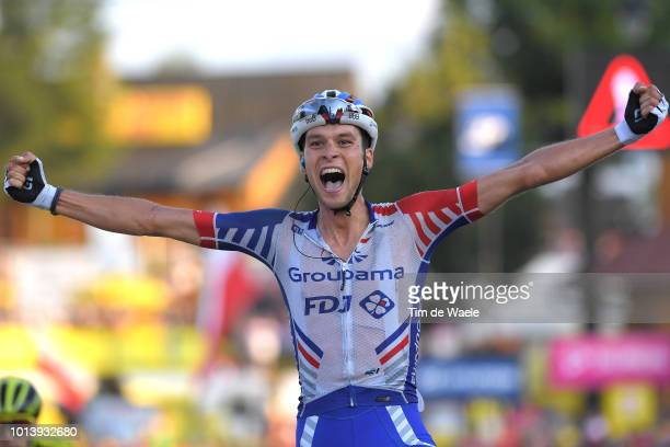 Arrival / Georg Preidler of Austria and Team Groupama Fdj Celebration / during the 75th Tour of Poland 2018 Stage 6 a 1293km stage from Zakopane to...