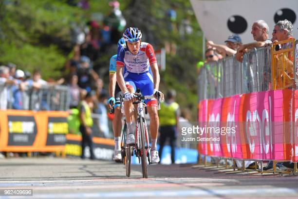 Arrival / Georg Preidler of Austria and Team GroupamaFDJ / during the 101st Tour of Italy 2018 Stage 19 a 185km stage from Venaria Reale to...