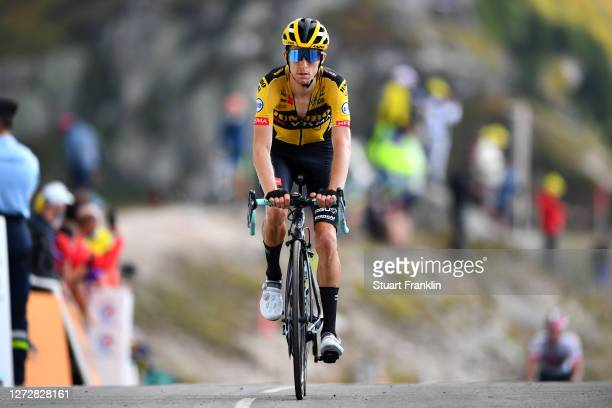 Arrival / George Bennett of New Zealand and Team Jumbo - Visma / Col de la Loze / during the 107th Tour de France 2020, Stage 17 a 170km stage from...