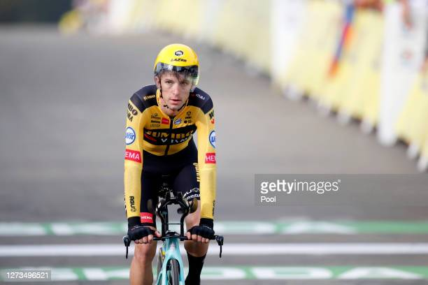 Arrival / George Bennett of New Zealand and Team Jumbo - Visma / during the 107th Tour de France 2020, Stage 20 a 36,2km Individual Time Trial stage...