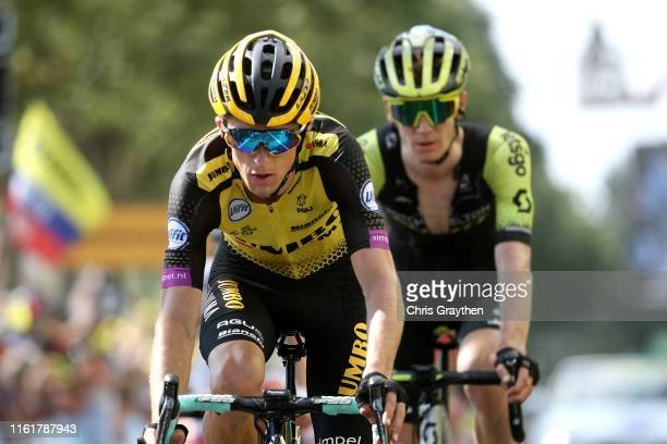 Arrival / George Bennett of New Zealand and Team Jumbo-Visma / during the 106th Tour de France 2019, Stage 8 a 200km stage from Mâcon to...