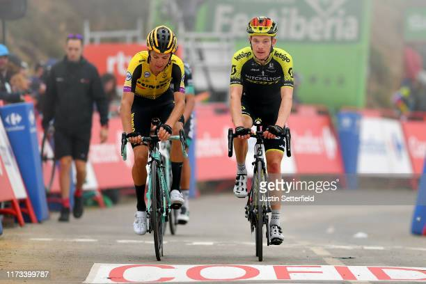 Arrival / George Bennett of New Zealand and Team Jumbo-Visma / Nicholas Schultz of Australia and Team Mitchelton-Scott / during the 74th Tour of...