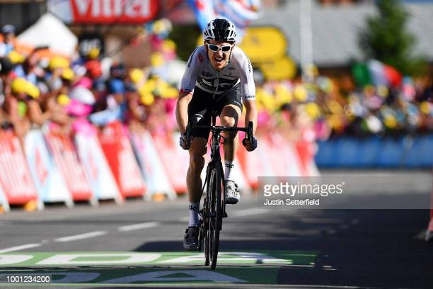 Arrival / Geraint Thomas of Great Britain and Team Sky / Celebration / during the 105th Tour de France 2018, Stage 11 a 108,5km stage from...