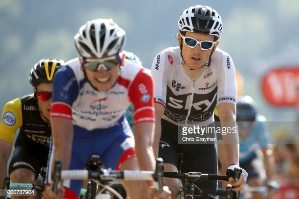 Arrival / Geraint Thomas of Great Britain and Team Sky / during the 105th Tour de France 2018 / Stage 10 a 1585km stage from Annecy to Le...