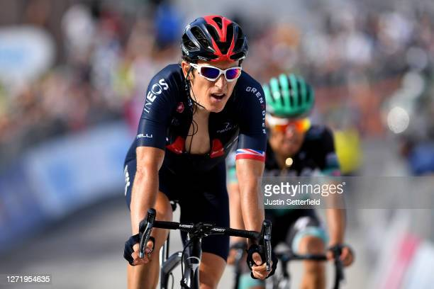 Arrival / Geraint Thomas of The United Kingdom and Team INEOS Grenadiers / during the 55th Tirreno-Adriatico 2020, Stage 5 a 202km stage from Norcia...