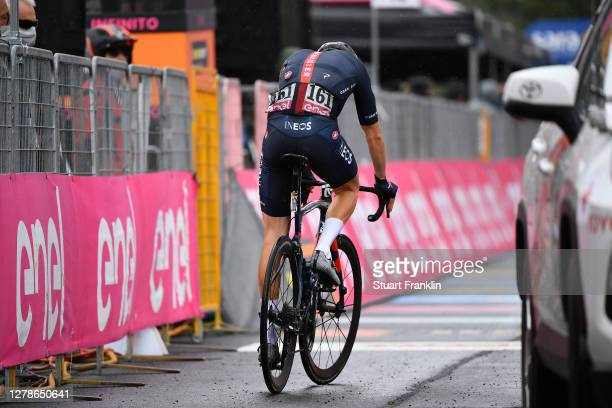 Arrival / Geraint Thomas of The United Kingdom and Team INEOS Grenadiers Disappointment / Etna / during the 103rd Giro d'Italia 2020, Stage Three a...