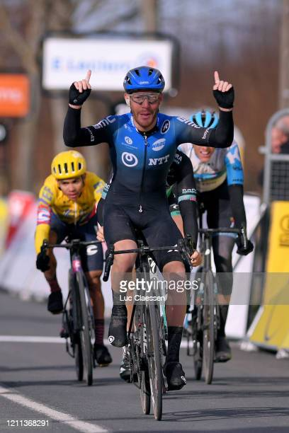 Arrival / Giacomo Nizzolo of Italy and NTT Pro Cycling Team / Celebration / Nils Politt of Germany and Team Israel Start-Up Nation / Sergio Andres...