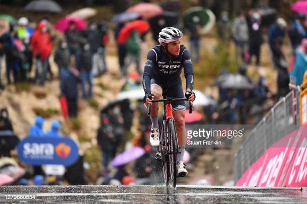 Arrival / Gianluca Brambilla of Italy and Team Trek - Segafredo / during the 103rd Giro d'Italia 2020, Stage 9 a 207km stage from San Salvo to...