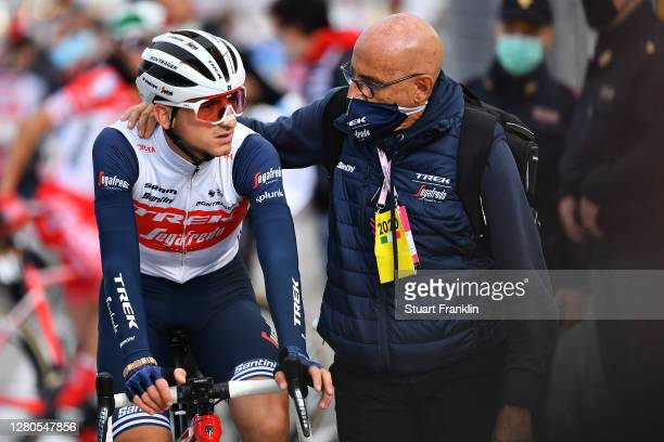Arrival / Giulio Ciccone of Italy and Team Trek - Segafredo / Soigneur / during the 103rd Giro d'Italia 2020, Stage 13 a 192km stage from from Cervia...