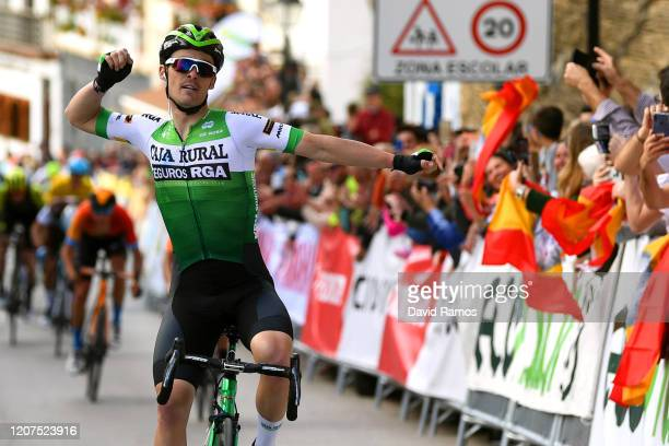 Arrival / Gonzalo Serrano of Spain and Team Caja Rural Seguros RGA / Celebration / Juan José Lobato of Spain and Team Fundación Orbea / Dylan Teuns...