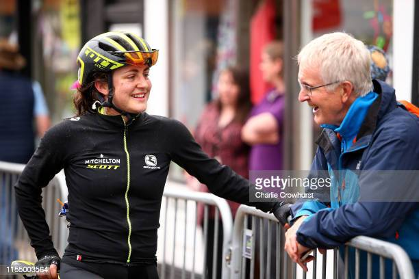 Arrival / Grace Brown of Australia and Team Mitchelton SCOTT / during the 6th OVO Energy Women's Tour 2019 Stage 1 a 1576 km stage from Beccles to...