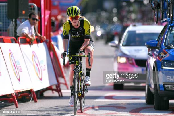 Arrival / Gracie Elvin of Australia and Team MitcheltonScott / during the 4th Madrid Challenge by la Vuelta Stage 2 a 1003km stage from Madrid to...