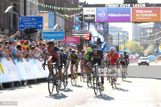 Arrival / Greg Van Avermaet of Belgium and BMC Racing Team / Celebration / during the 4th Tour of Yorkshire 2018, Stage 4 a 189,5km stage from...