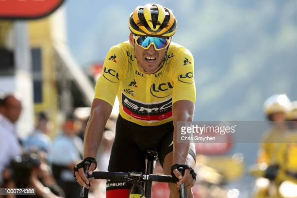 Arrival / Greg Van Avermaet of Belgium and BMC Racing Team Yellow Leader Jersey during the 105th Tour de France 2018 / Stage 10 a 1585km stage from...