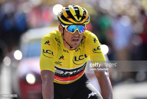 Arrival / Greg Van Avermaet of Belgium and BMC Racing Team / Yellow Leader Jersey / during the 105th Tour de France 2018 / Stage 10 a 1585km stage...