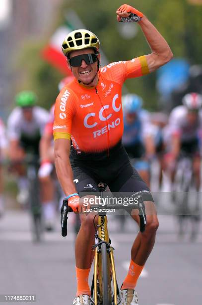 Arrival / Greg Van Avermaet of Belgium and CCC Team / Celebration / Diego Ulissi of Italy and UAE Team Emirates / during the 10th Grand Prix Cycliste...