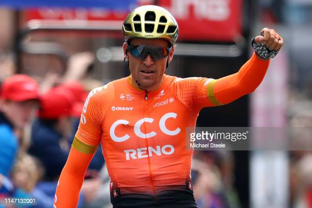 Arrival / Greg Van Avermaet of Belgium and CCC Team / Celebration / during the 5th Tour of Yorkshire 2019, Stage 4 a 175km stage from Halifax to...