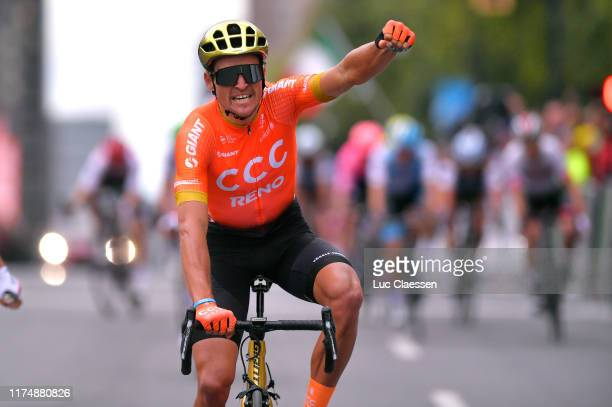 Arrival / Greg Van Avermaet of Belgium and CCC Team / Celebration / during the 10th Grand Prix Cycliste de Montreal 2019 a 219,6km race from Montreal...