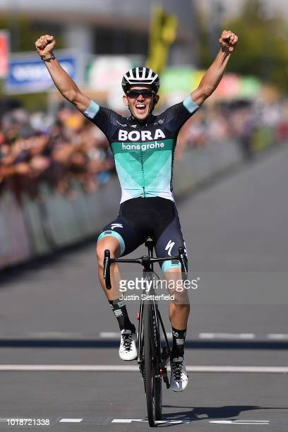 Arrival / Gregor Muhlberger of Austria and Team Bora-Hansgrohe / during the 14th BinckBank Tour 2018, Stage 6 a 182,2km stage from Riemst to...