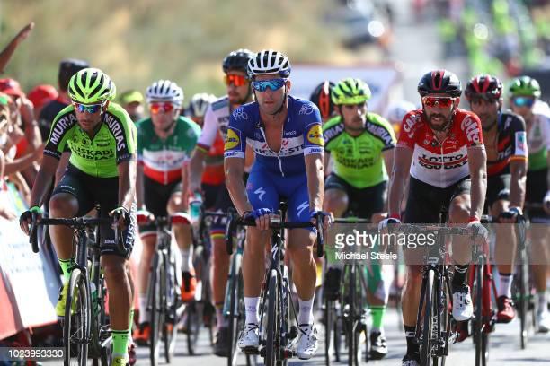 Arrival / Hector Saez of Spain and Team Euskadi Murias / Fabio Sabatini of Italy and Team QuickStep Floors / Thomas De Gendt of Belgium and Team...