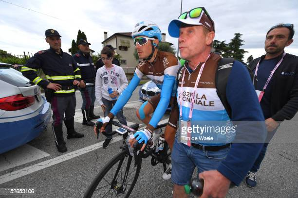 Arrival / Hubert Dupont of France and Team AG2R La Mondiale / during the 102nd Giro d'Italia 2019 Stage 18 a 222km stage from Valdaora to Santa Maria...