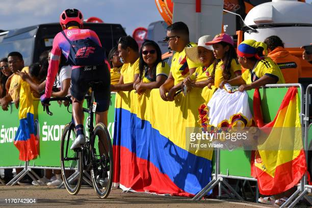 Arrival / Hugh Carthy of Great Britain and Team EF Education First / Colombian Fans / Flag / during the 74th Tour of Spain 2019 - Stage 5 a 170,7km...
