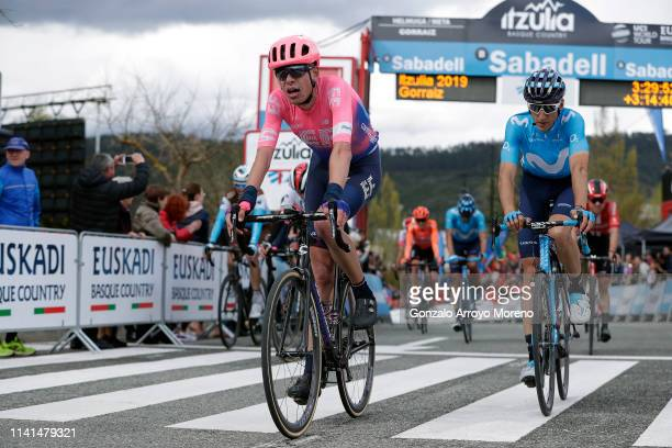 Arrival / Hugh Carthy of the United Kingdom and Team EF Education First / Carlos Verona of Spain and Movistar Team / during the 59th ItzuliaVuelta...