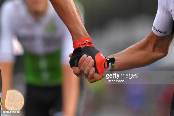 Arrival / Igor Anton of Spain and Team Dimension Data last race as Professional rider / Farewell / Deatail view / during the 73rd Tour of Spain 2018...