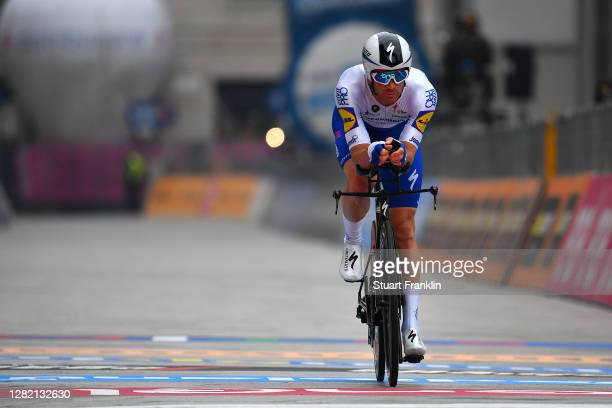 Arrival / Iljo Keisse of Belgium and Team Deceuninck - Quick-Step / during the 103rd Giro d'Italia 2020, Stage 21 a 15,7km Individual time trial from...