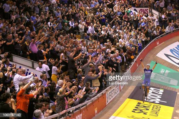 Arrival / Iljo Keisse of Belgium and Team Quick-Step Floors / Celebration / during the 78th 6 Days Gent 2018 - Day 6 / Track / Kuipke Track Velodrome...