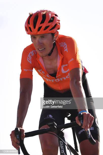 Arrival / Ilnur Zakarin of Russia and CCC Team / during the 6th UAE Tour 2020, Stage 3 a 184km stage from Al Qudra Cycle Track to Jebel Hafeet 1032m...