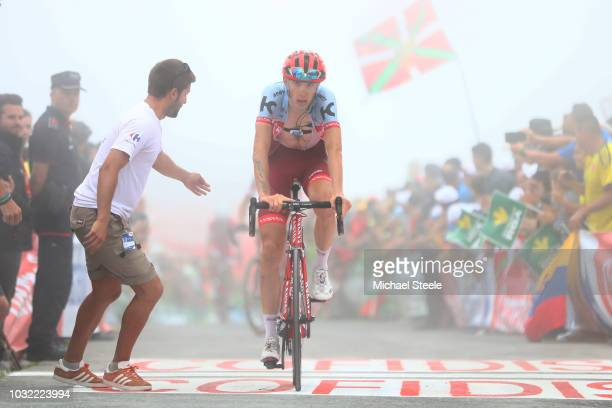Arrival / Ilnur Zakarin of Russia and Team Katusha Alpecin / during the 73rd Tour of Spain 2018 Stage 17 a 157km stage from Getxo to Alto del Balcon...