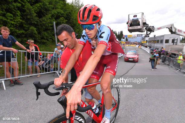 Arrival / Ilnur Zakarin of Russia and Team Katusha Alpecin / during the 70th Criterium du Dauphine 2018 Stage 7 a 136km stage from Moutiers to...