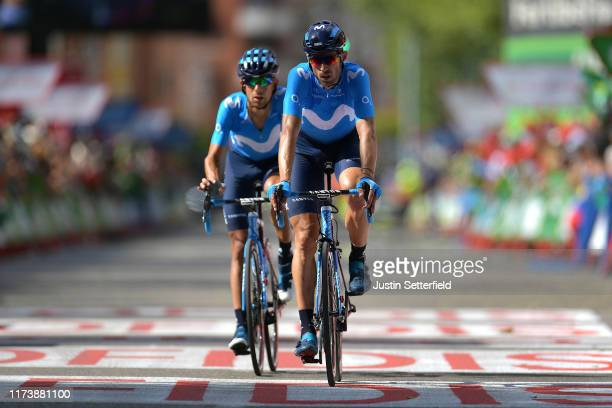 Arrival / Imanol Erviti Ollo of Spain and Movistar Team / Nelson Oliveira of Portugal and Movistar Team / during the 74th Tour of Spain 2019 Stage 17...