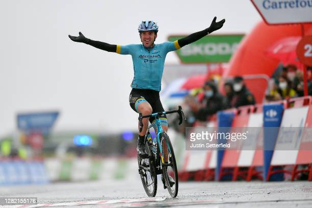 Arrival / Ion Izagirre Insausti of Spain and Astana Pro Team / Celebration / during the 75th Tour of Spain 2020 - Stage 6 a 146,4km stage from...