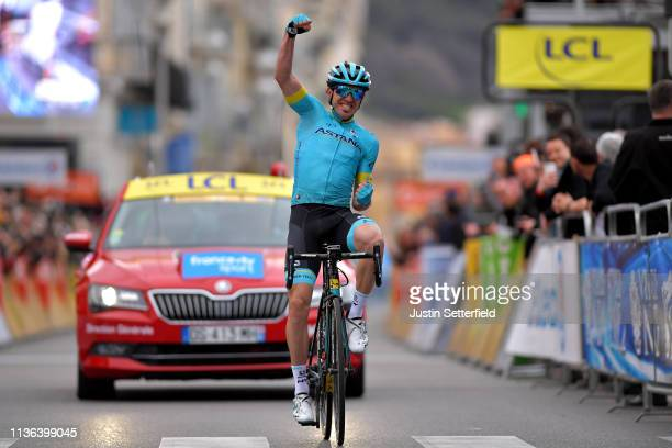 Arrival / Ion Izaguirre of Spain and Astana Pro Team / Celebration / during the 77th Paris Nice 2019 Stage 8 a 110km stage from Nice to Nice / PN /...