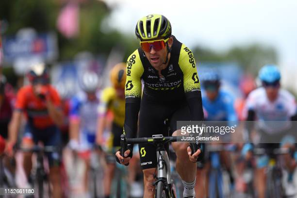 Arrival / Jack Bauer of New Zealand and Team Mitchelton Scott / during the 102nd Giro d'Italia 2019 Stage 18 a 222km stage from Valdaora to Santa...