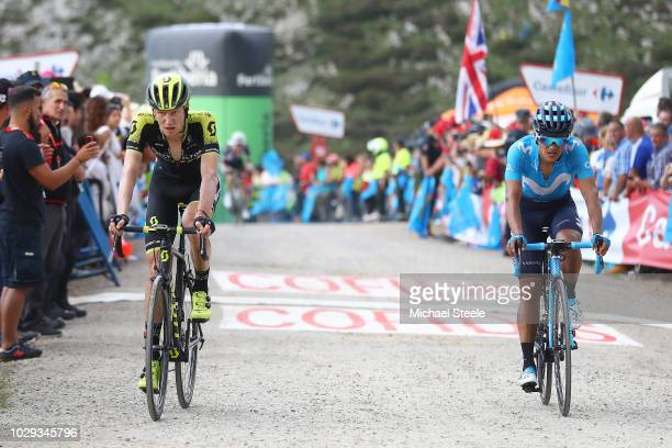 Arrival / Jack Haig of Australia and Team Mitchelton-Scott / Richard Carapaz of Ecuador and Movistar Team / during the 73rd Tour of Spain 2018, Stage...