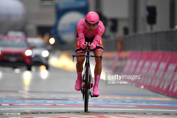 Arrival / Jai Hindley of Australia and Team Sunweb Pink Leader Jersey / during the 103rd Giro d'Italia 2020, Stage 21 a 15,7km Individual time trial...