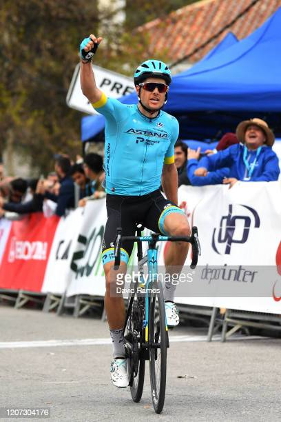 Arrival / Jakob Fuglsang of Denmark and Astana Pro Team / Celebration / during the 66th Vuelta a Andalucía - Ruta del Sol 2020, Stage 1 a 173,8km...