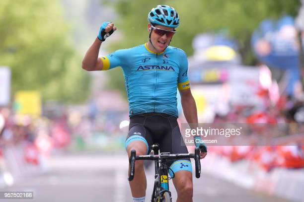 Arrival / Jakob Fuglsang of Denmark and Astana Pro Team / Celebration / during the 72nd Tour de Romandie 2018, Stage 4 a 149,2km stage from Sion to...