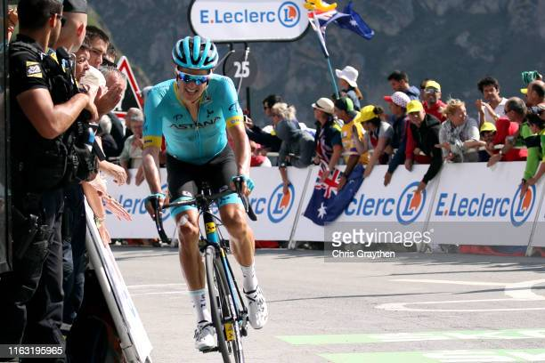 Arrival / Jakob Fuglsang of Denmark and Astana Pro Team / during the 106th Tour de France 2019, Stage 14 a 117km stage from Tarbes to Tourmalet...