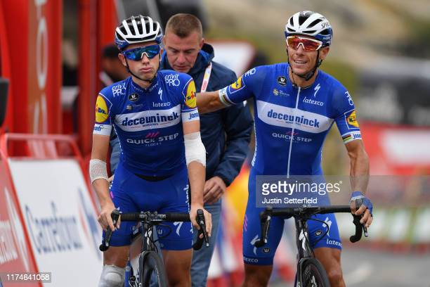Arrival / James Knox of Great Britain and Team DeceuninckQuickStep / Philippe Gilbert of Belgium and Team DeceuninckQuickStep / during the 74th Tour...