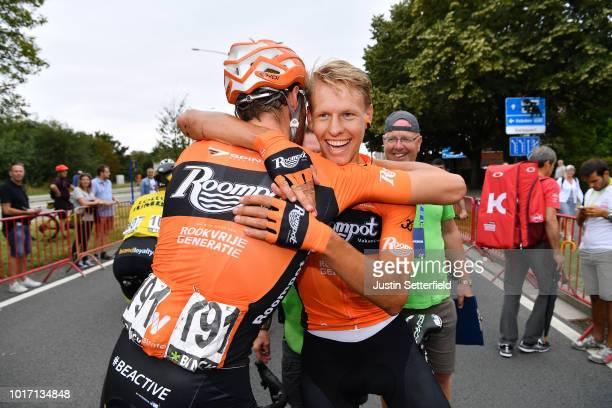 Arrival / Jan Willem Van Schip of Netherlands and Team Roompot-Nederlandse Loterij / Taco Van Der Hoorn of Netherlands and Team Roompot-Nederlandse...