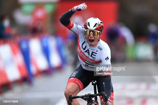 Arrival / Jasper Philipsen of Belgium and UAE Team Emirates / Celebration / during the 75th Tour of Spain 2020, Stage 15 a 230,8km stage from Mos to...