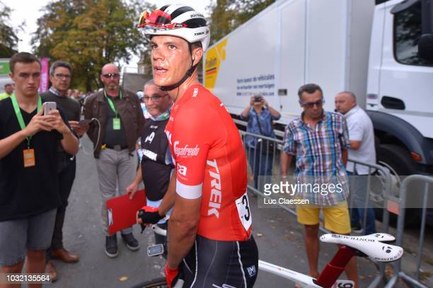 Arrival / Jasper Stuyven of Belgium and Team Trek - Segafredo / Celebration / during the 59th Grand Prix de Wallonie 2018 a 205,9km race from Blegny...