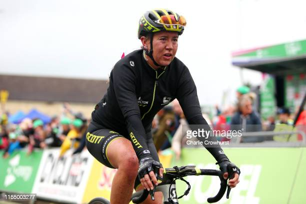 Arrival / Jessica Allen of Australia and Team Mitchelton SCOTT / during the 6th OVO Energy Women's Tour 2019 Stage 1 a 1576 km stage from Beccles to...
